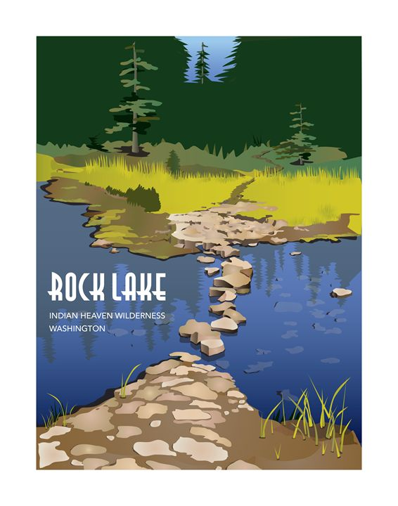 Rock Lake with a Label - Christine Rains