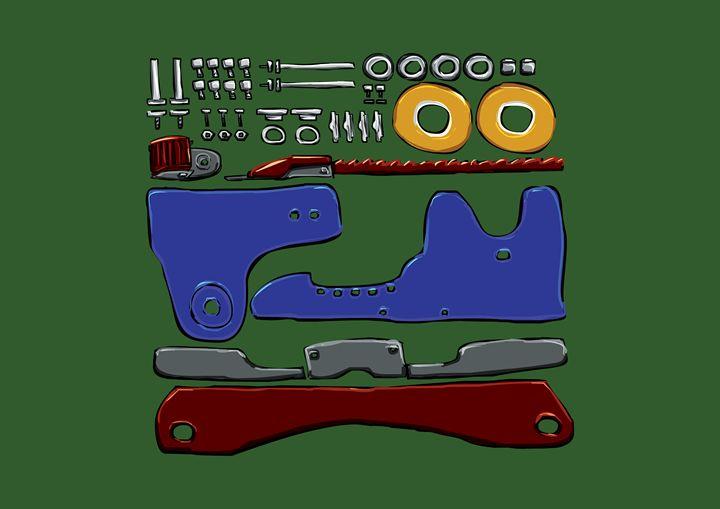 Skate Parts (Real Color/Green) - Tarso Galvão