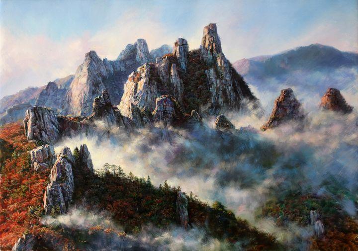 Beautiful mountain in the East - Matviienko Dmytro Volodimyrovich