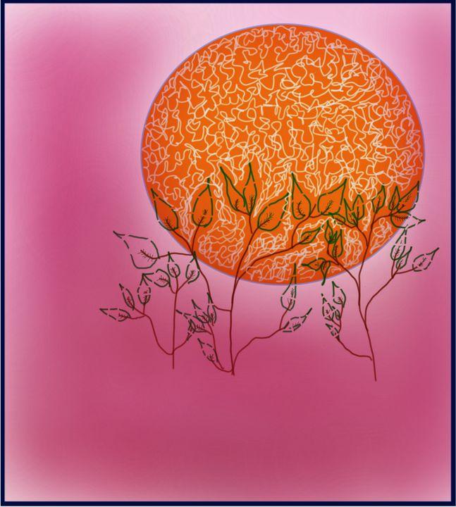 The orange moon - R.artwork