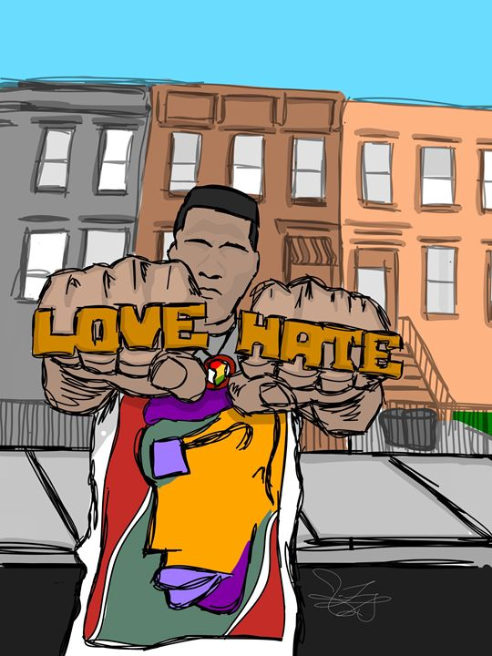 Love And Hate - Stick Figure Drawings