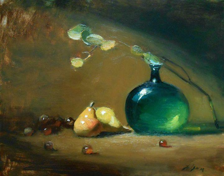 Emerald Glass - Kelli Folsom Still Life Paintings