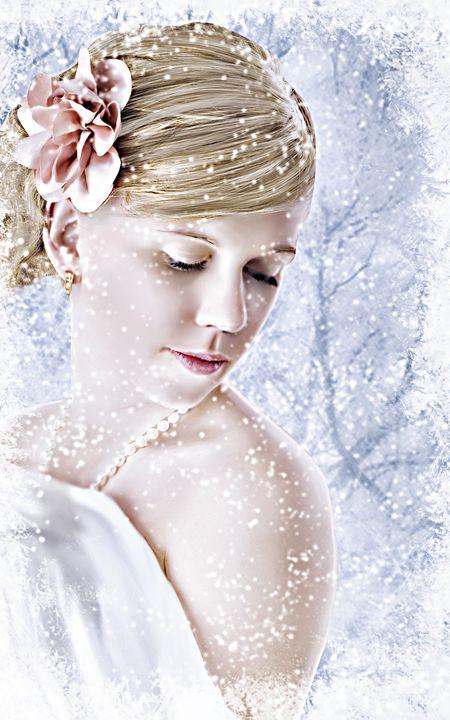 La dame en blanc - Artdecoportrait