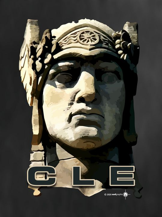 CLE Head Poster - aadgraphics
