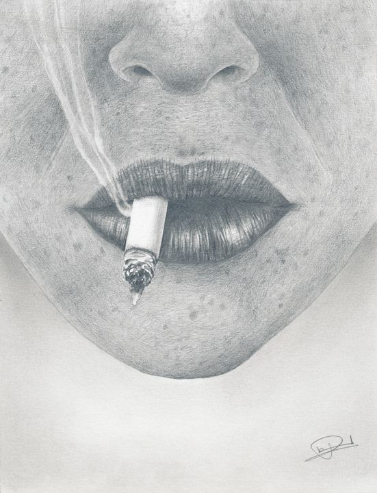Smoking lips - Pierre Huard