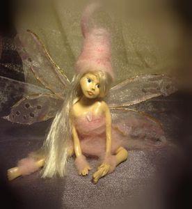 OOAK polymer clay fairy - Fairy Art by Leia Meadow