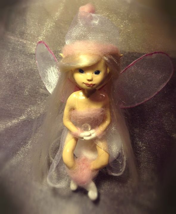 OOAK Polymer clay Art Doll Fairy by - Fairy Art by Leia Meadow