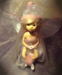 OOAK Polymer clay Art Doll Fairy by