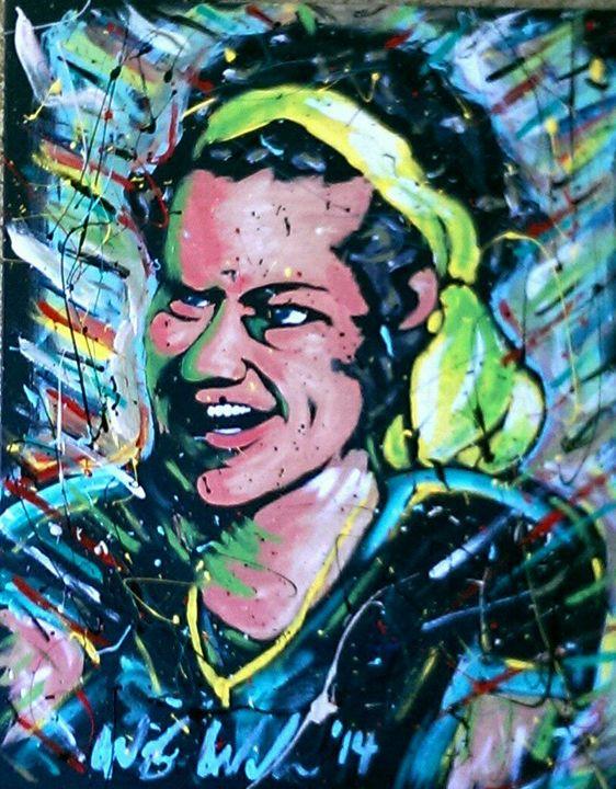 Harry Styles 22x28 Painting - WesleyWalkerFineArt