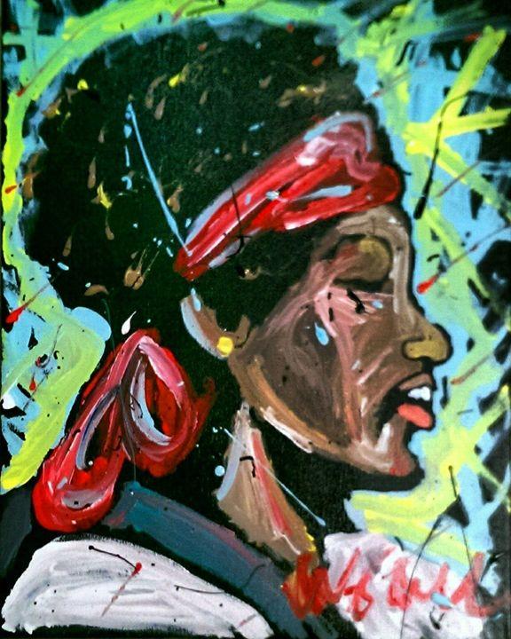 Jimi Hendrix 16x20 Painting - WesleyWalkerFineArt