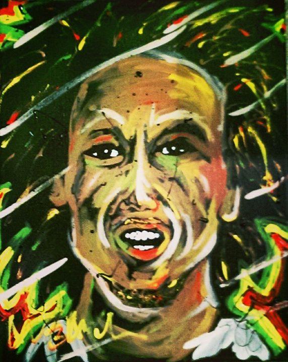 Bob Marley 16x20 Painting - WesleyWalkerFineArt