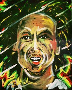Bob Marley 16x20 Painting