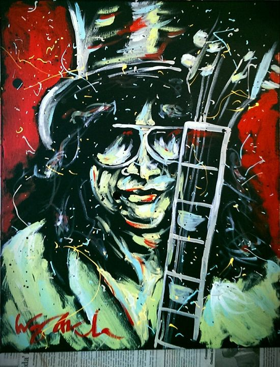 Slash 16x20 Painting - WesleyWalkerFineArt