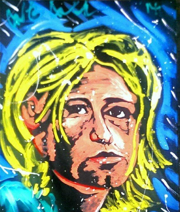 Kurt Cobain 16x20 Painting - WesleyWalkerFineArt