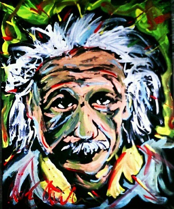Albert Einstein 16x20 Painting - WesleyWalkerFineArt