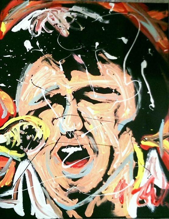 Elvis 16x20 Painting - WesleyWalkerFineArt