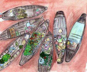 Floating Market - Cai Rang