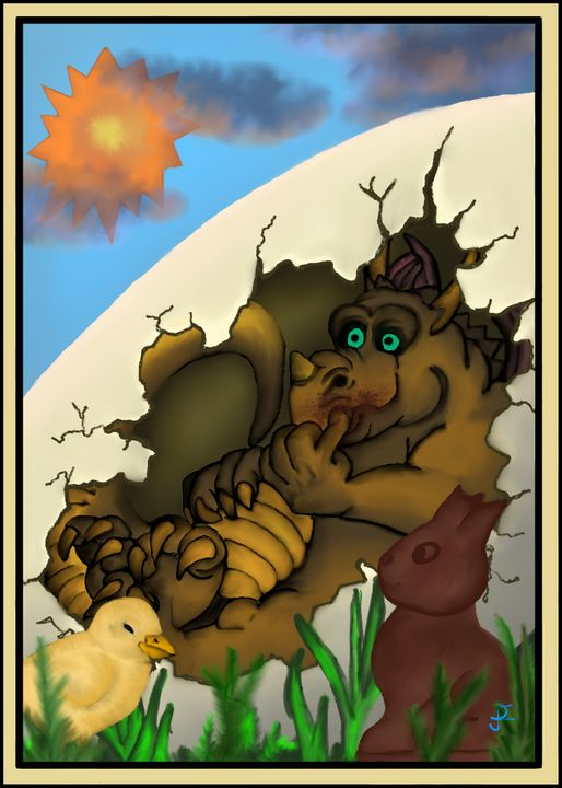 Dragon Easter Egg - Douglas Frese (Doug-e)