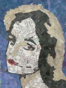 Collage art girl face - ggdoodles