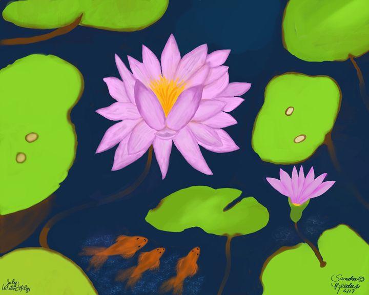 July, Water Lily - DigitalNana