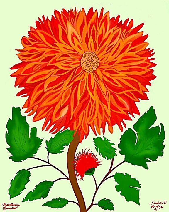 November, Chrysanthemum - DigitalNana
