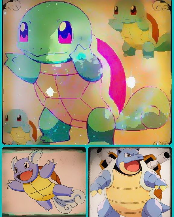 squirtle evolves - MickArt