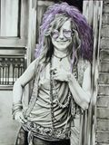 Janis Joplin watercolour