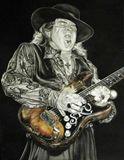 Stevie Ray Vaughan watercolour