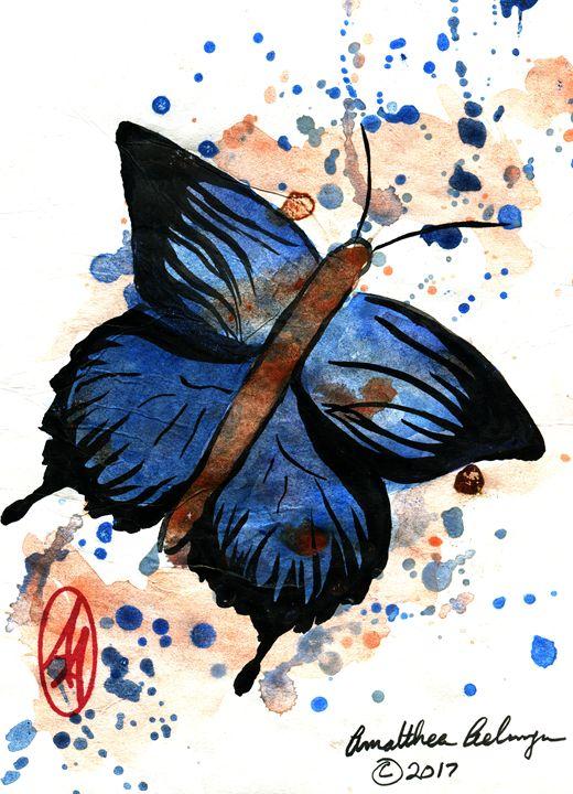 Blue Butterfly - Aelwyn Studios