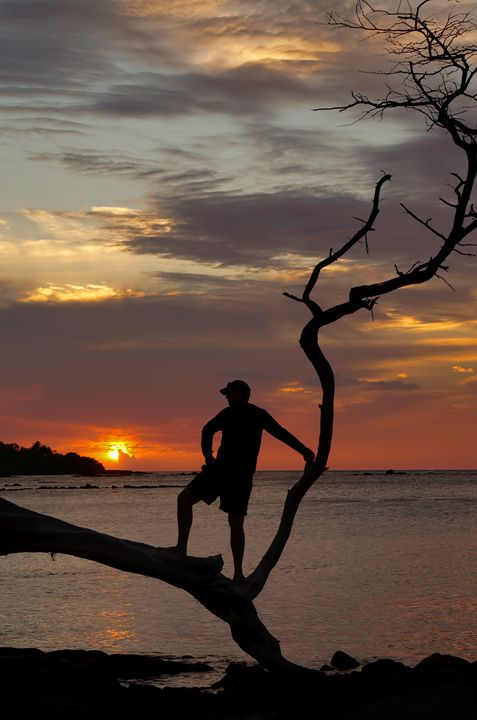 Watching the Sunset Island Style - Photography by Pamela