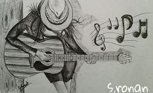 guitar hands girl