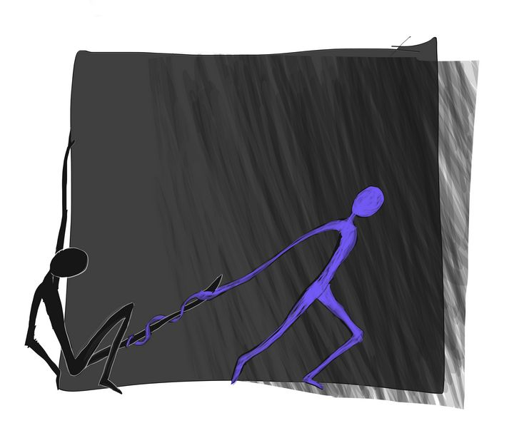 Dragging (Digital) - The Art of Matthew Louis Tardy