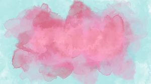 Pink blue background watercolor.