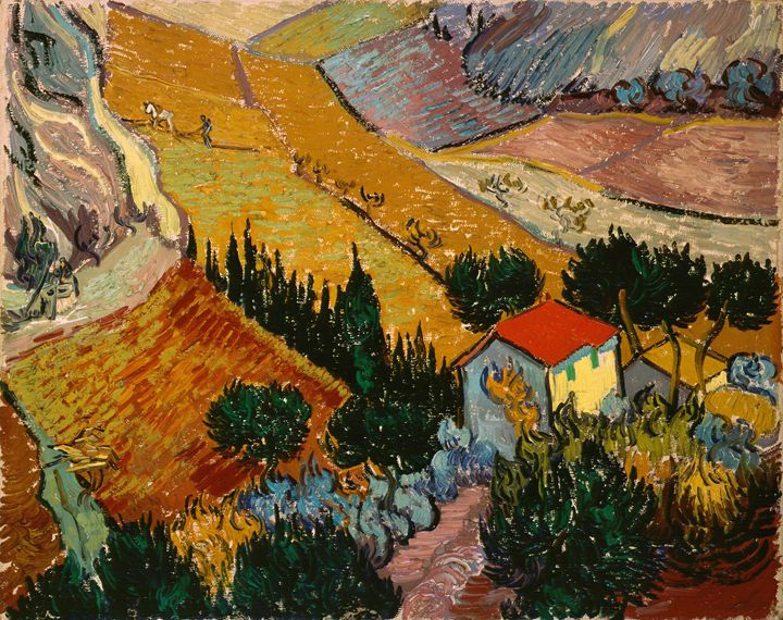 Landscape with House and Ploughman - Summer