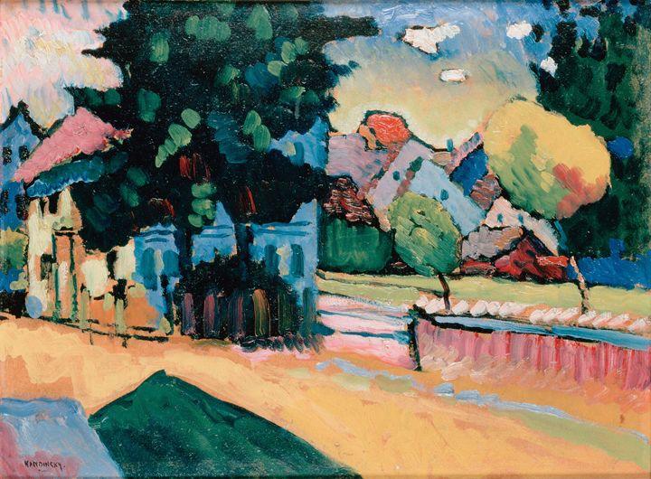 View of Murnau,1908 - Summer