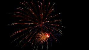 Fireworks over Roanoke, TX-