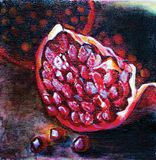 Impressionism Pomegranate Painting