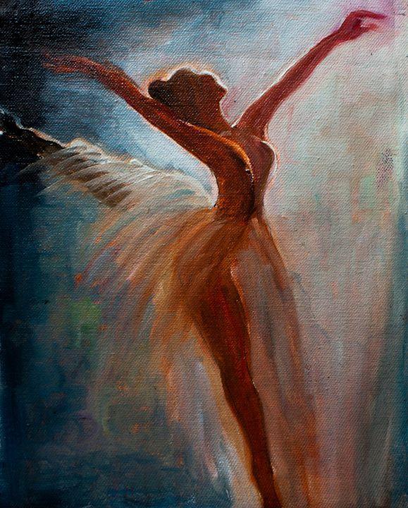 Ballerina Oil Painting - KashiKa