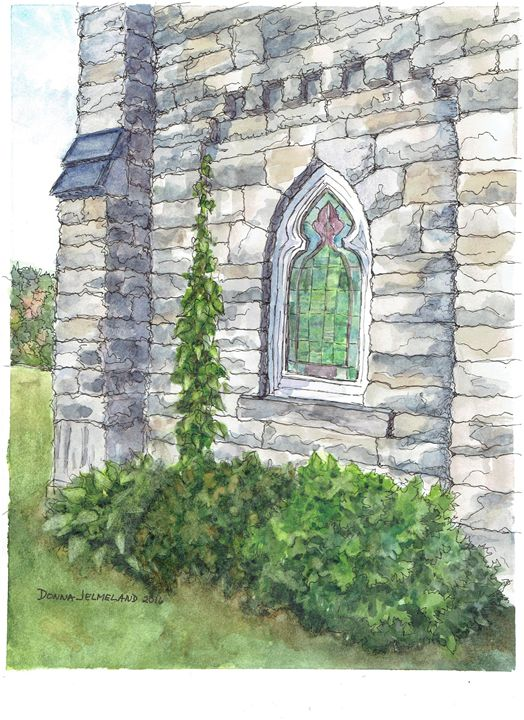 """Church Window"" - Art by Donna"