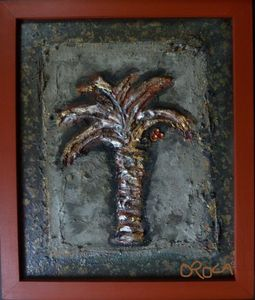 Palm tree relief