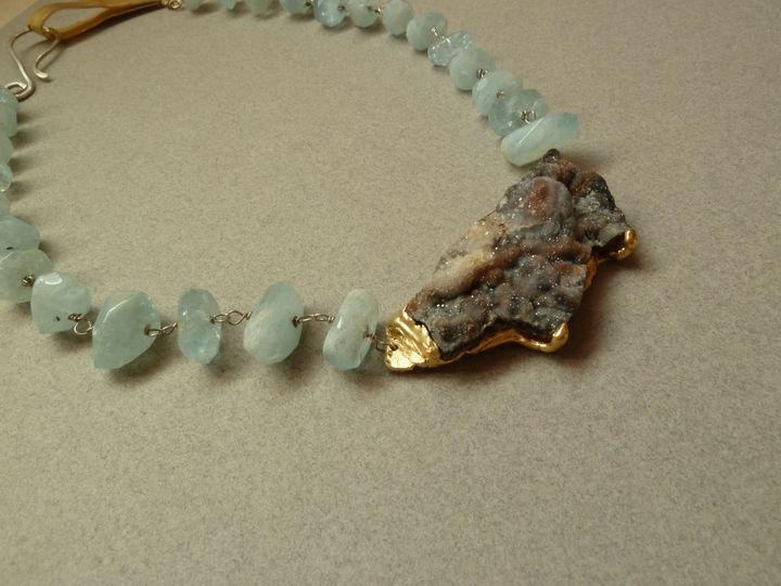 Raw Aquamarine necklace - Oroca