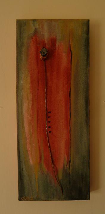 Agate flower on canvas - Oroca