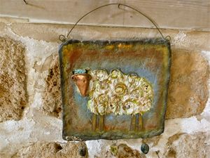 wall jewelry with sheep