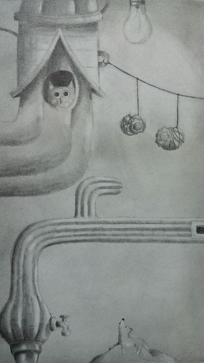 """""""Deserted Dream"""" - Kemani Simms - Fine Art"""
