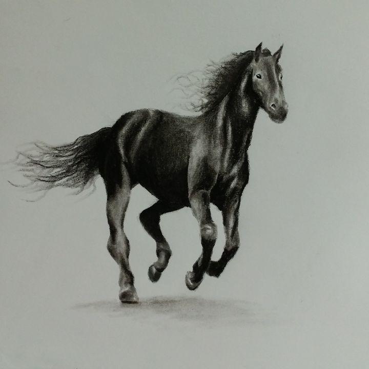 """""""Dark Steed"""" - Kemani Simms - Fine Art"""