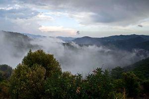Cyprus cloudy landscape