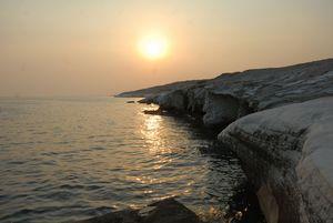 Alamanos marl rocks at Limassol Cypr