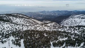 Cyprus troodos snow
