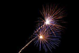 fireworks night time
