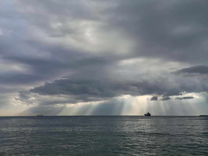 sun rays through clouds - Evripidou M